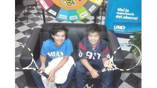 Alejandro y Nereo Suárez se sentaron en el living de Diario UNO.