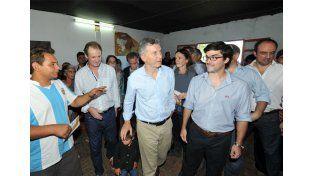 En La Paz. Macri y los funcionarios