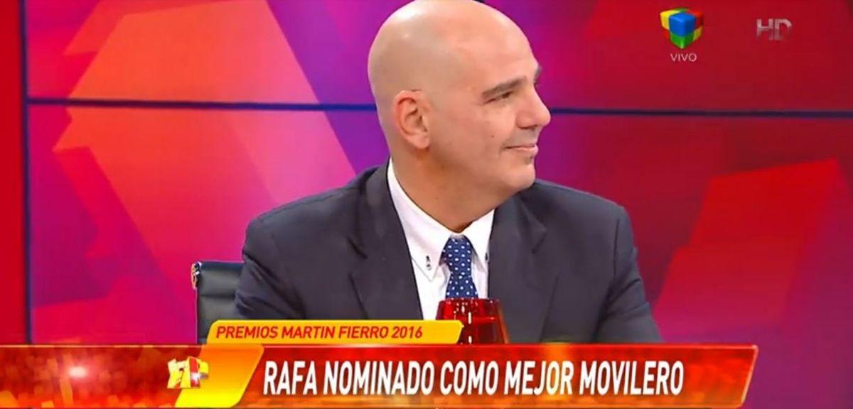 Rafa habló de su nominación al Martín Fierro por su labor como movilero