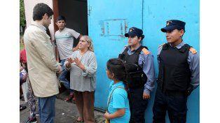 Las fuerzas de seguridad colaboran ante la emergencia hídrica