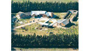 La finca de tres hectáreas que se edificaba en Pérez. (Foto de Archivo)