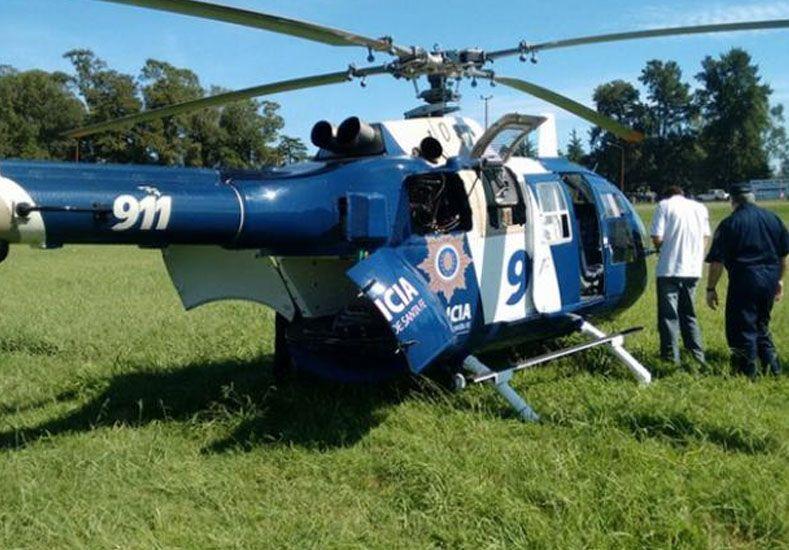 Un helicóptero de la provincia tuvo que realizar un aterrizaje de emergencia