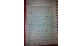 La carta que escribió el pequeño Kevin