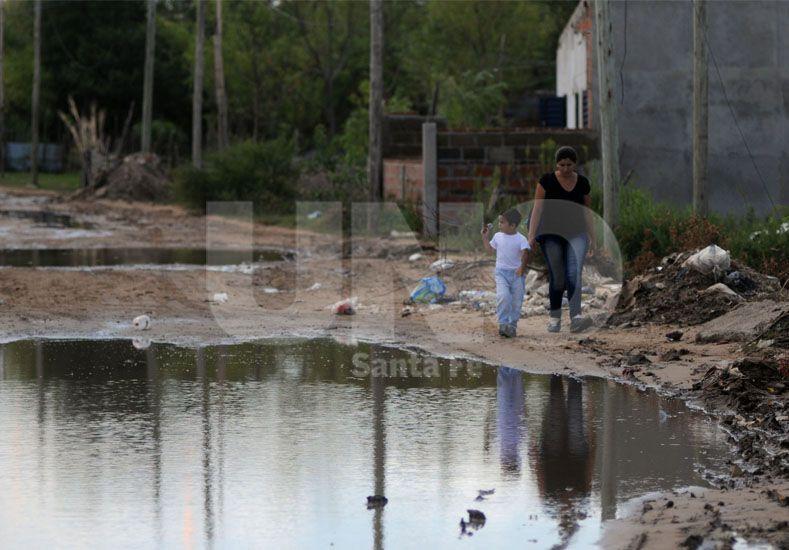 Las calles de Alto Verde. Foto: Mauricio Centurión / UNO Santa Fe.