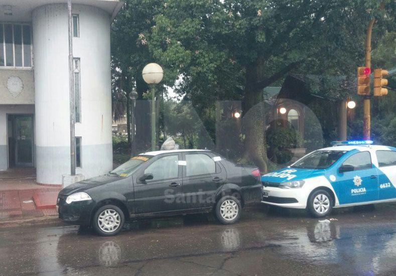 Sin salida. La actuación de los policías del Comando fue rápida y reportaron la amenaza del taxista.