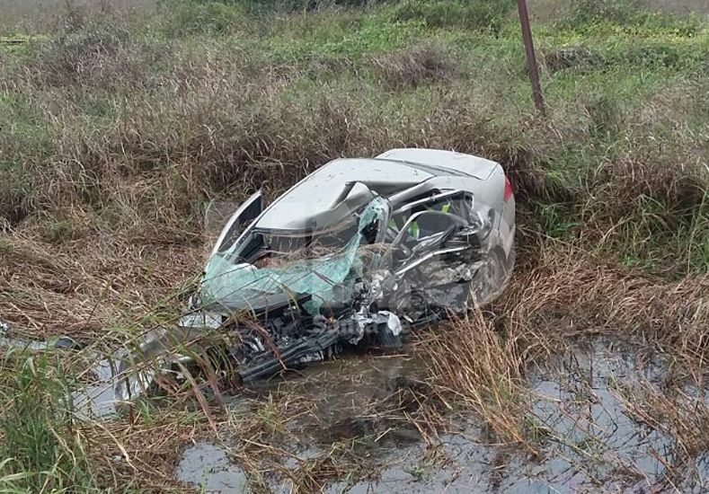 Tres muertos al colisionar dos autos en la ruta 34