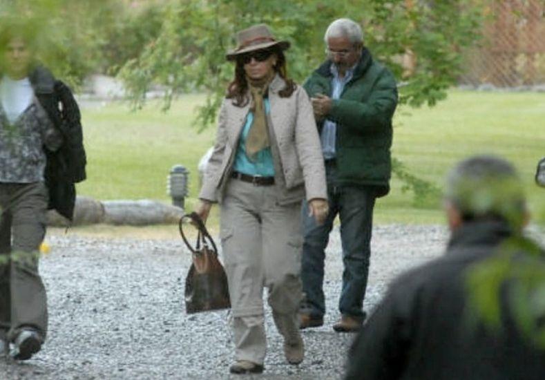 Tras la imputación, Cristina permaneció en su casa de Calafate