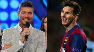 Tinelli se encontró con Messi, se sacó una selfie y le dedicó un mensaje