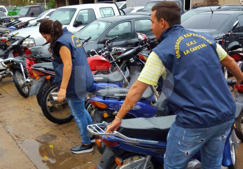 Secuestraron 12 motos robadas y detuvieron a cinco delincuentes
