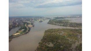 Foto aérea del río Salado./ @horaciojrios
