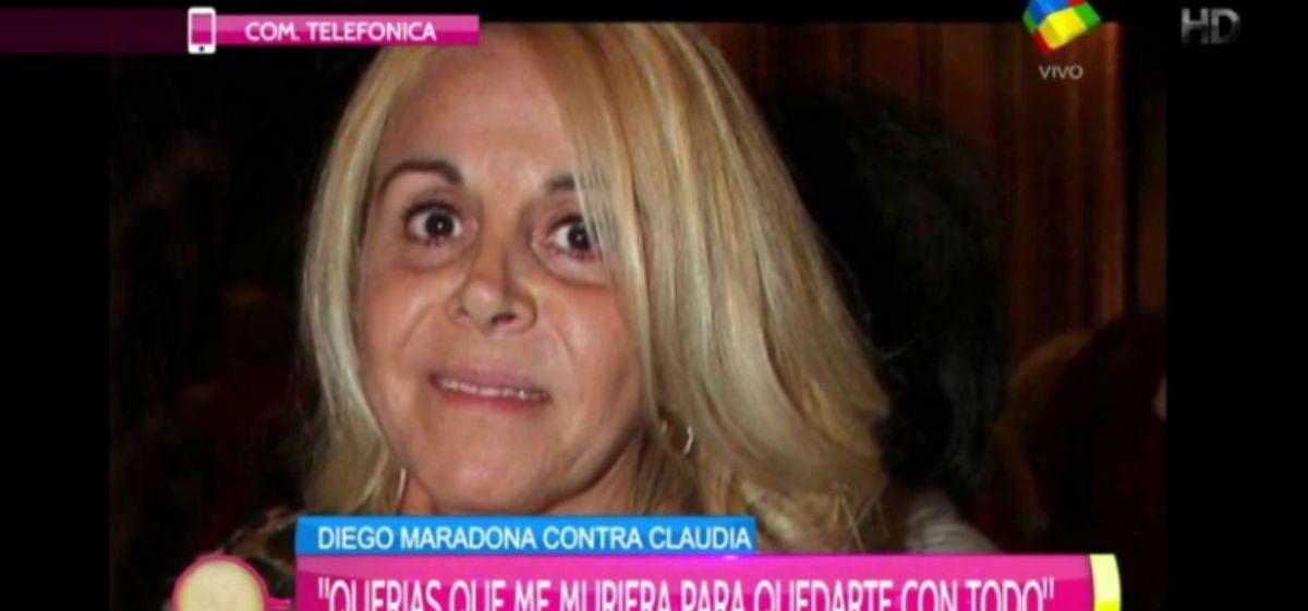 Claudia Villafañe quedó sobreseía en la causa por las pertenencias de Diego Maradona