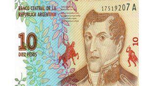 Sacaron la imagen del Monumento a la Bandera en el nuevo billete de diez pesos