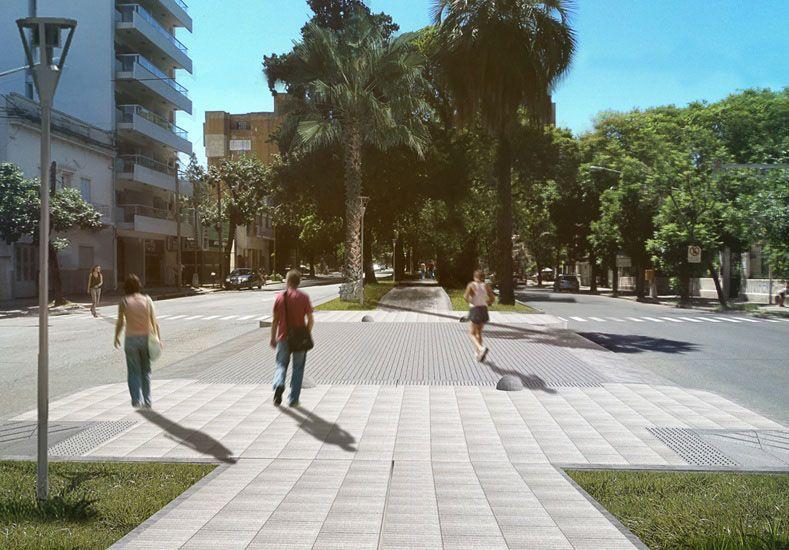 Distinta. Imagen digital del proyecto pensado por el municipio. Una edila pide estacionamiento.