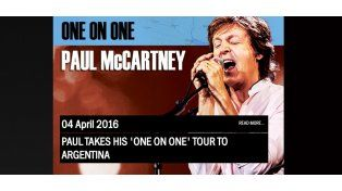 Paul McCartney confirmó que tocará en Argentina