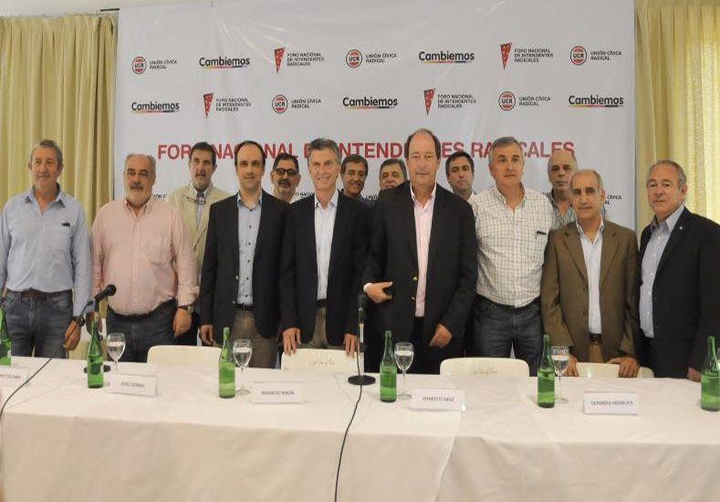 Con la asistencia de Macri, se reúne el Foro Nacional de intendentes Radicales