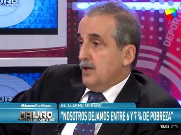 Guillermo Moreno defendió a la expresidenta Cristina Kirchner y la desvinculó de la causa que investiga irregularidades en la venta de dólares a futuro.