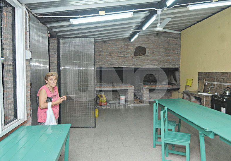 Quincho. Otro de los espacios que es utilizado para distintas actividades sociales. Fotos UNO/Manuel Testi