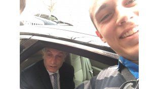Gonzalo Mettini se sacó una selfie con el presidente Macri.