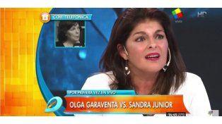 Olga Garaventa cruzó en vivo a la mujer que reclama la paternidad de Sandro