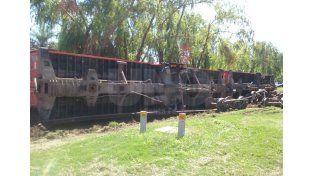 Descarrilaron dos vagones  en el barrio Candioti Norte