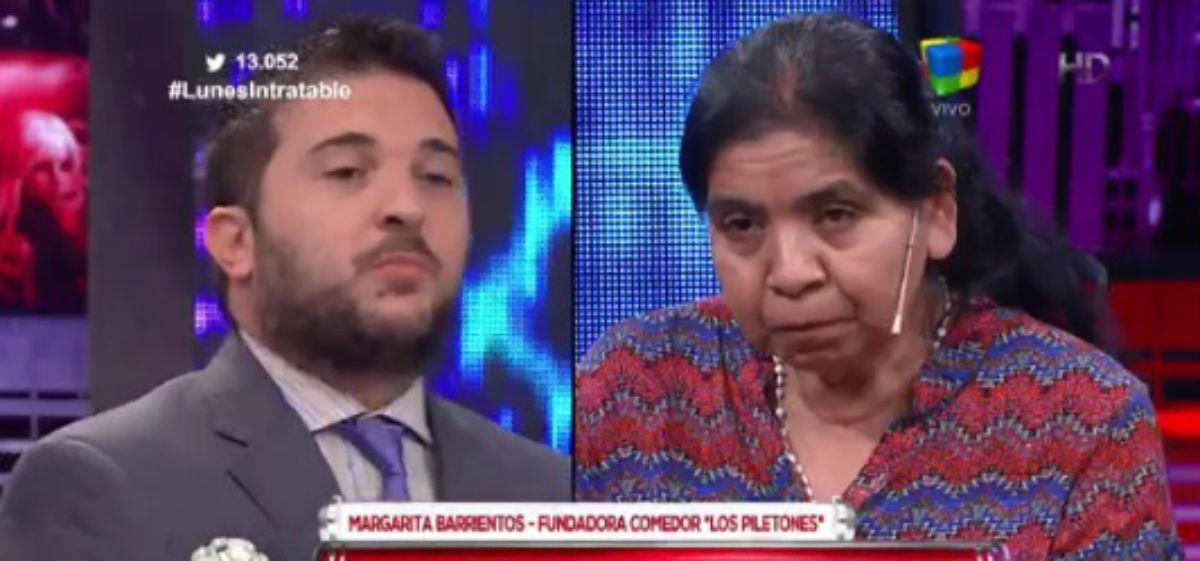 Brancatelli interpeló a Margarita Barrientos y generó el repudio de sus compañeros