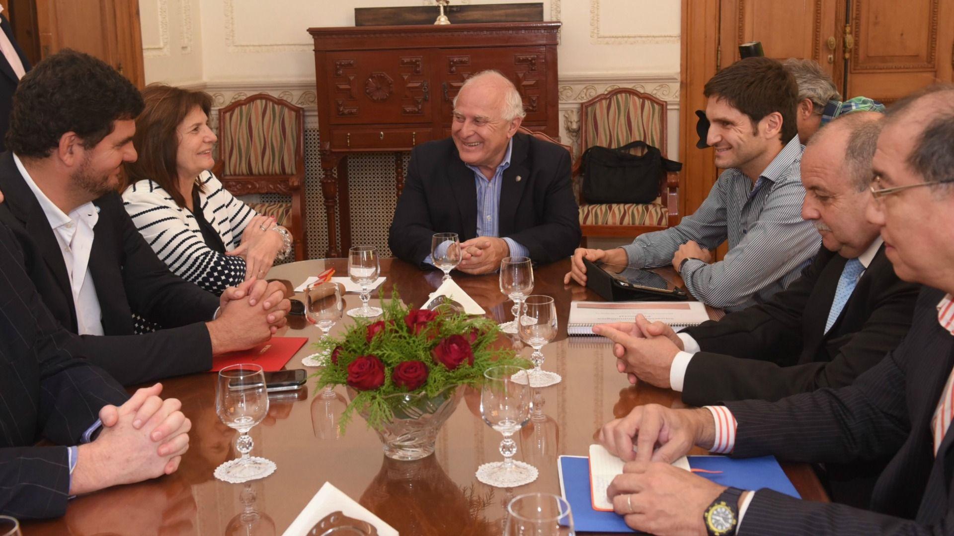 El encuentro se realizó este lunes en Rosario. / Gobierno de Santa Fe