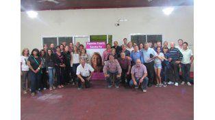 Espacio Carrió Santa Fe se reunió la semana pasada en el club Unión y Progreso.