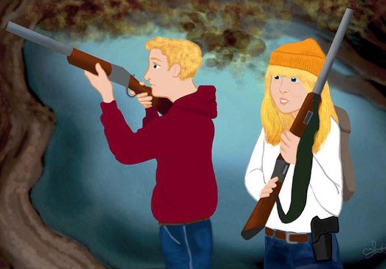 En Estados Unidos, Hansel, Gretel y Caperucita Roja usan armas para defenderse del peligro