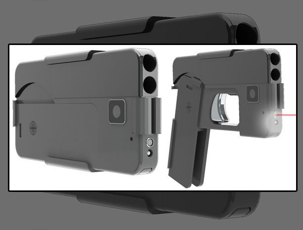 El arma de fuego queda totalmente camuflada como un teléfono celular
