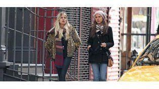 Mirá con quién se encontraron Mica y Cande Tinelli en Nueva York