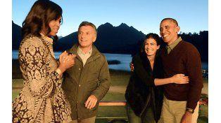 La despedida. Los matrimonios presidenciales mostraron buena sintonía cuando se vieron en Bariloche.