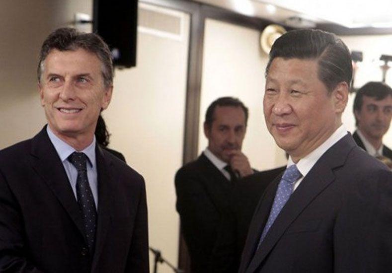 Macri tendrá su primera bilateral con el presidente de China