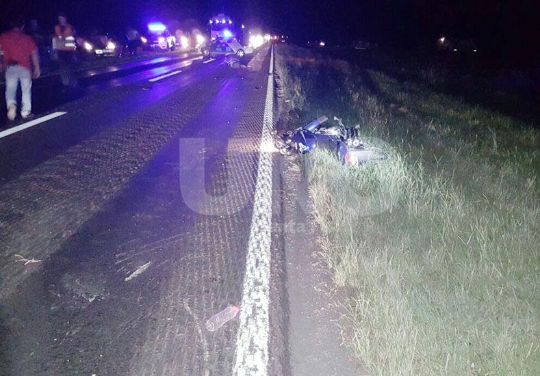 Un motociclista perdió la vida en la ruta 11