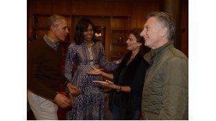 Una de las imágenes que publicó el presidente argentino en la despedida de Obama.