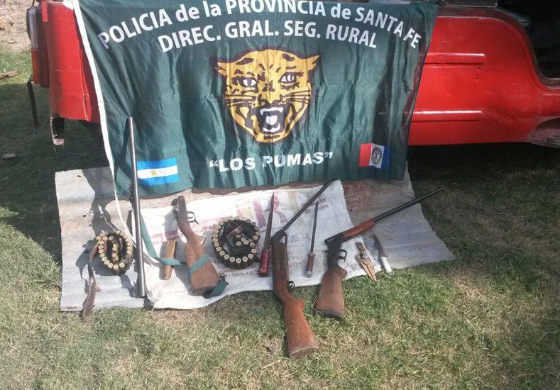 Secuestraron armas y un vehículo por abigeato en el norte provincial