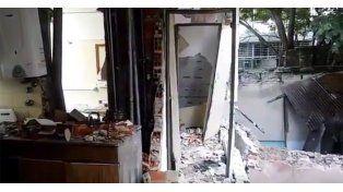 Un video muestra el interior del edificio que se derrumbó ayer tras una explosión en Rosario