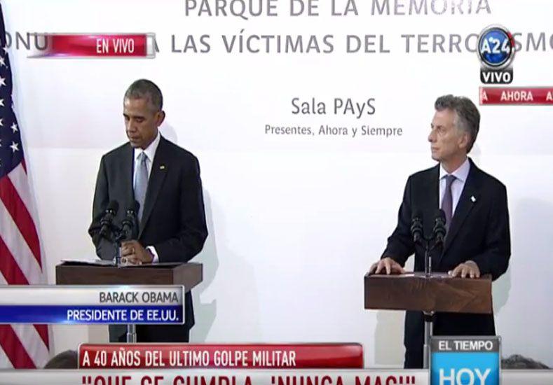 #ENVIVo Conferencia de Obama y Macri
