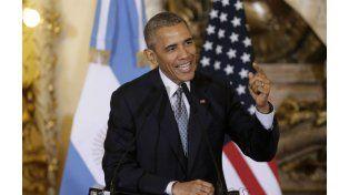 El presidente Barack Obama durante el encuentro con los periodistas. (foto: