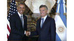 Barack Obama y Mauricio Macri se reúnen en Casa Rosada