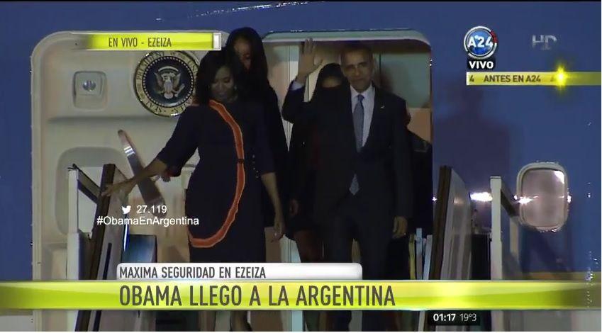 Barack Obama ya está en Argentina
