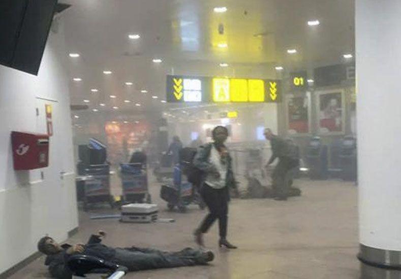 Así fue el momento de la explosión en el aeropuerto de Bruselas