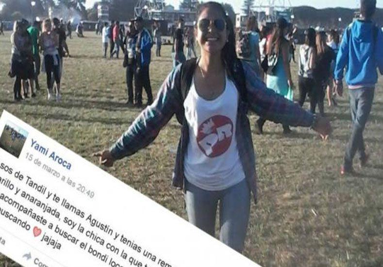 Se enamoró en el recital del Indio y ahora busca al chico por Facebook