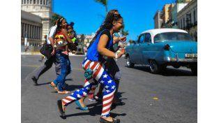La bandera estadounidense está presente por doquier en la Cuba actual