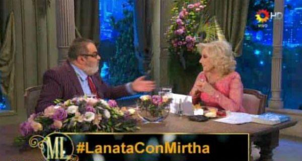 Lanata estuvo anoche en la mesa de Mirtha.