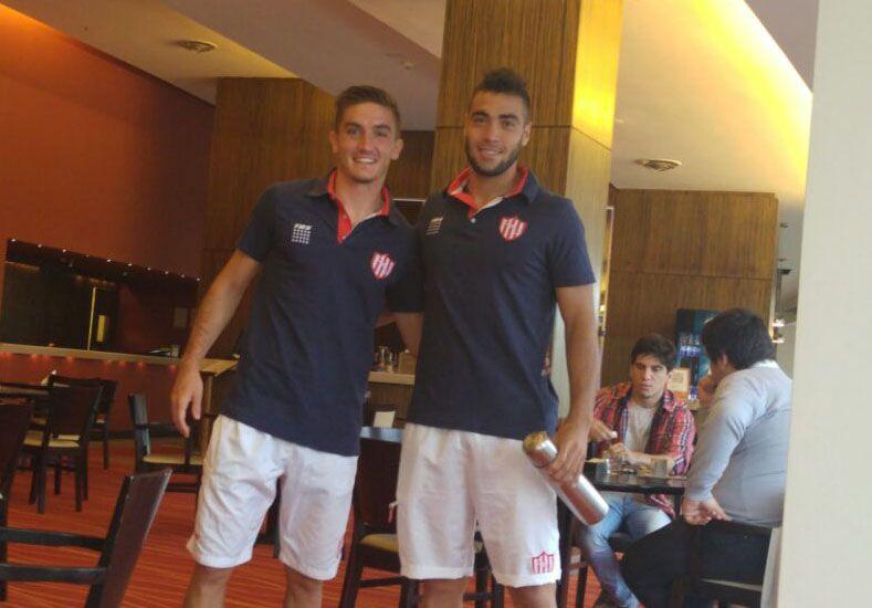 Mauro Pitton y Jonatan Fleita. Dos jugadores de las canteras Tatengues.