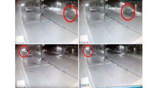 Así chocó el patrullero que mató a un joven en Laferrere