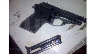 Los elementos secuestrados y que fueron utilizados en el robo al repartidor en San Justo.