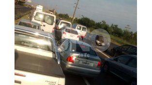 Choque en cadena provocó demoras en la ruta 168 esta mañana