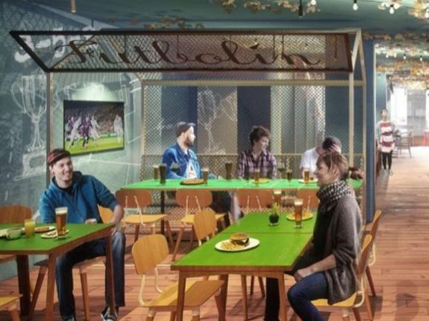 Una recreación del restaurante que abrirán los hermanos Messi.