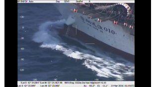 Video: Así fue el hundimiento del barco chino en el Mar Argentino